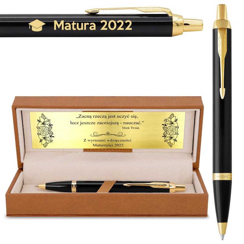 Długopis Parker IM Czarny GT Zakończenie Roku Grawer