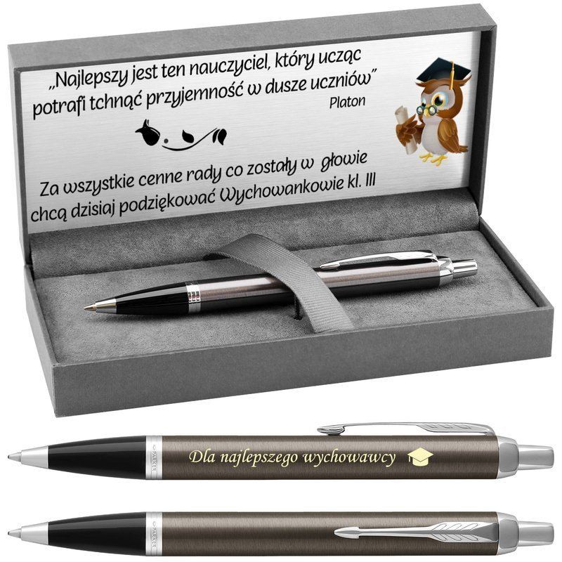 Długopis Parker IM Dark Espresso CT z Grawerem