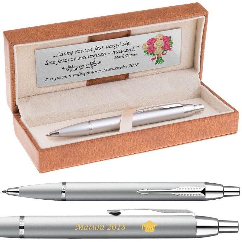 Długopis Parker IM Srebrny CT Grawer Dedykacja