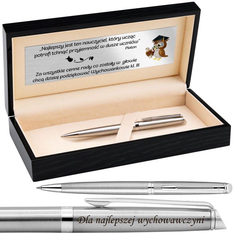 Długopis Waterman Hemisphere CT Drewniane pudełko Grawer