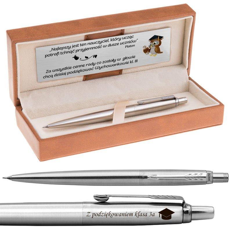 Ołówek Parker Jotter CT stalowy Grawer i Dedykacja