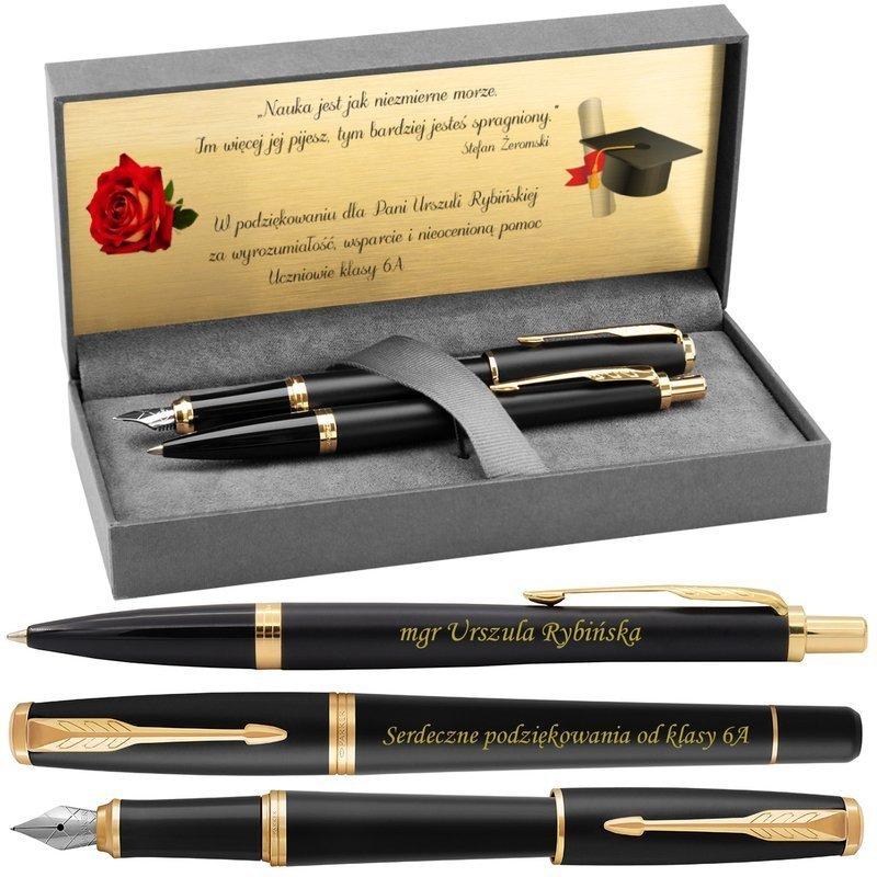 Zestaw Parker Urban Pióro i Długopis Muted Black GT z Grawerem