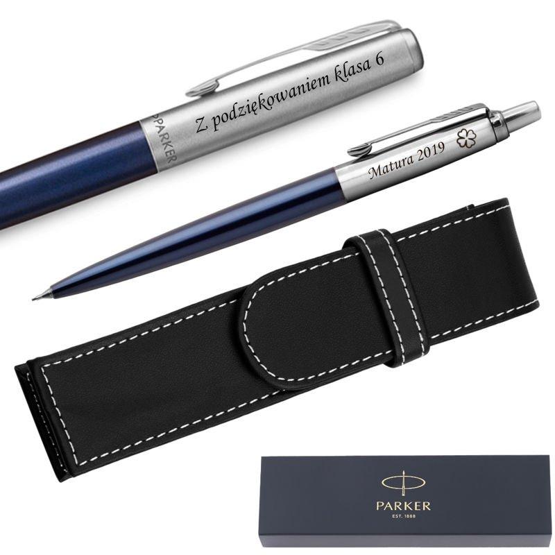 Zestaw Pióro + Ołówek Jotter Parker Royal CT + Etui Grawer