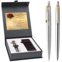 Długopis Parker Jotter stalowy GT Etui Logowane Grawer