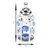Butelka smoczek Swarovski błękitne kryształypamiątka chrztu GRAWER  4