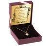 Naszyjnik koniczynka złoto pr.585 GRAWER różowa kokardka 2