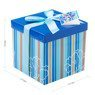 Pudełko na prezent niebieskie w paski M 2