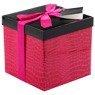 Pudełko na prezent różowy wzór M 1