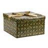 Pudełko na prezent zielone w gwiazdy XL 1
