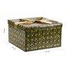 Pudełko na prezent zielone w gwiazdy XL 3