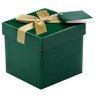 Pudełko na prezent zielone ze złotą tasiemką XS 1