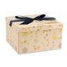 Pudełko na prezent żółte w płatki śniegu XL 1