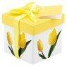 Pudełko prezentowe w żółte tulipany XS 1