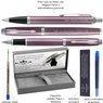 Zestaw Parker IM Długopis Pióro Jasnofioletowy CT z Grawerem 3