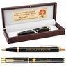 Zestaw Pióro Długopis Parker IM Czarny GT Drewniane Etui Grawer 1