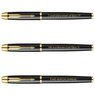 Zestaw Pióro Długopis Parker IM Czarny GT Drewniane Etui Grawer 4