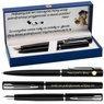 Zestaw Pióro Długopis Waterman Allure Czarne CT z Grawerem 1