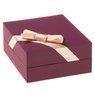 Złoty Łańcuszek wisiorek Serce 585 Prezent GRAWER różowa kokardka 2
