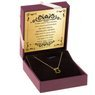 Złoty Naszyjnik MIŚ celebrytka 585 PREZENT GRAWER różowa kokardka 2
