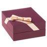 Złoty wisiorek serce z kryształkami 333 DEDYKACJA różowa kokardka 6